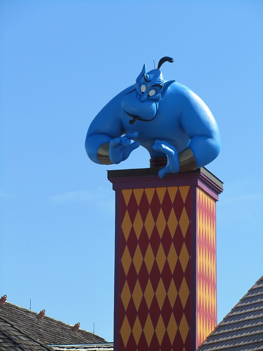 Genie, Aladdin, Disney, Disneyland, Magic, Fantasy