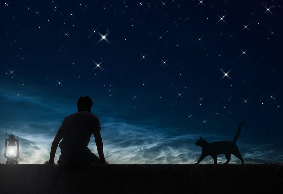 Daydreamer, Night Sky, Stars, Photo Art, Fantasy, Dream
