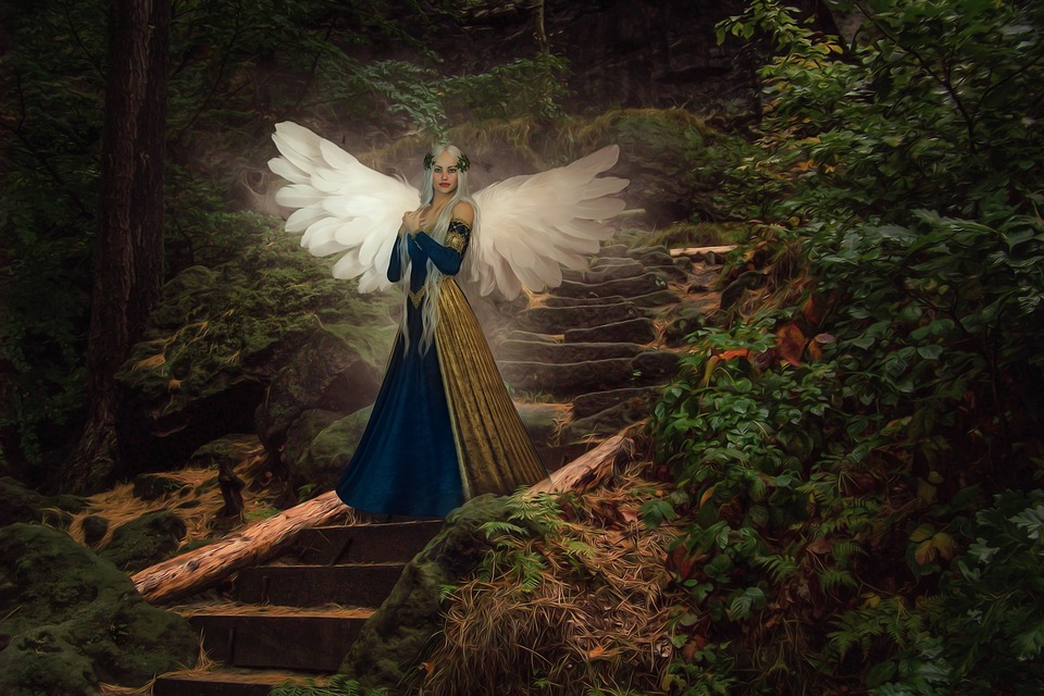 Nature, Fee, Elf, Wing, Woman, Fantasy, Figure