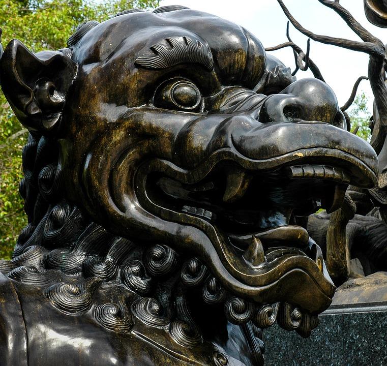 Broncefigur, Statue, Fantasy Figure