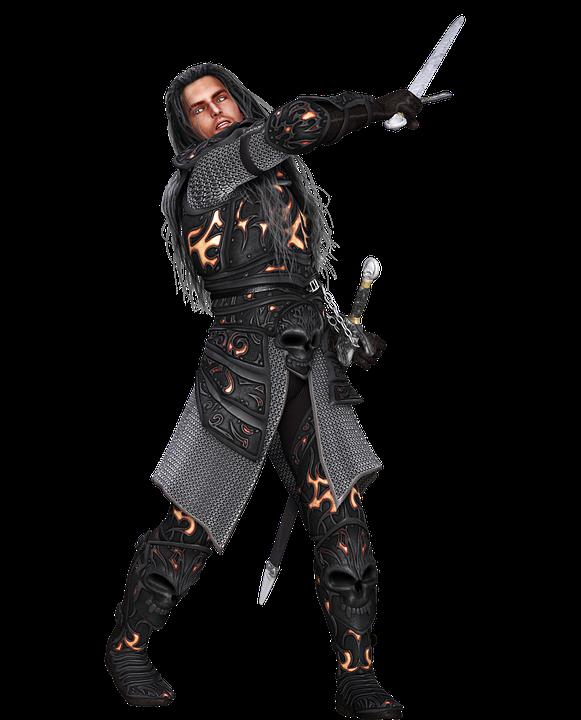 Man, Warrior, Armor, Medieval, 3d, Fantasy, Isolated