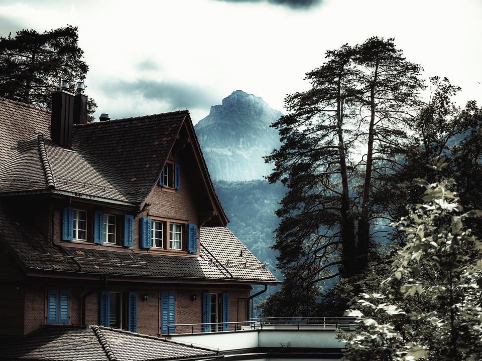 Mystic, House, Mountain, Berg, Fantasy, Mood
