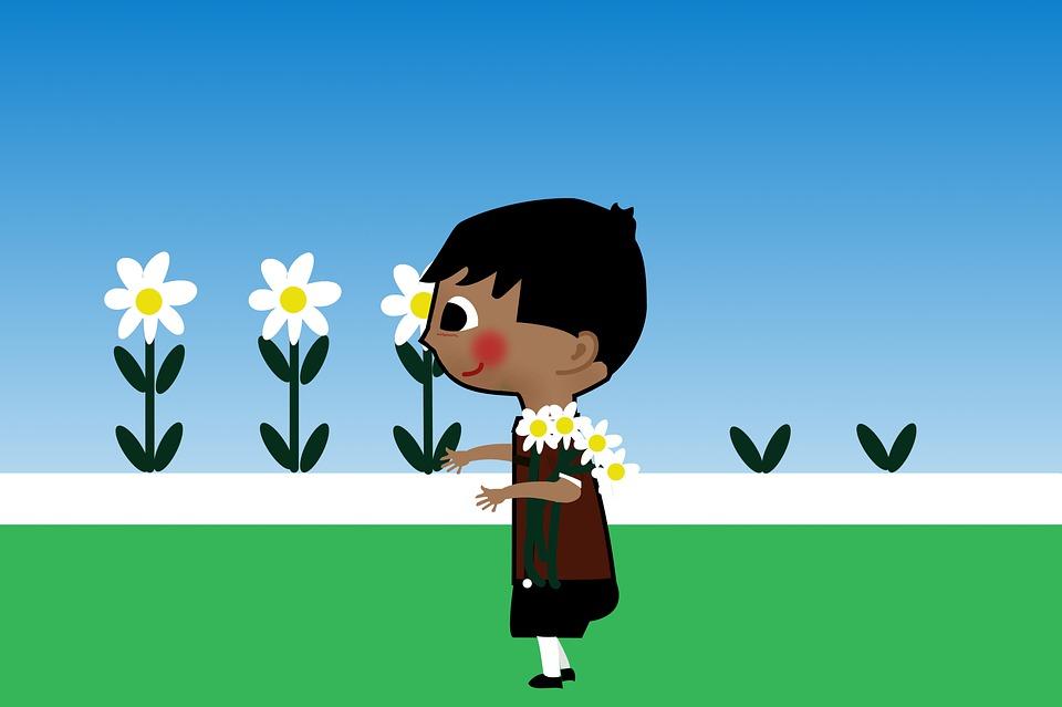 Flowers, Picking, Garden, Fantasy, Fairy Tale