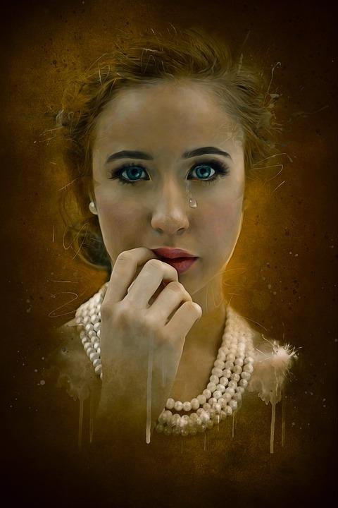 Portrait, Fantasy, Fantasy Portrait, Dark, Suspense