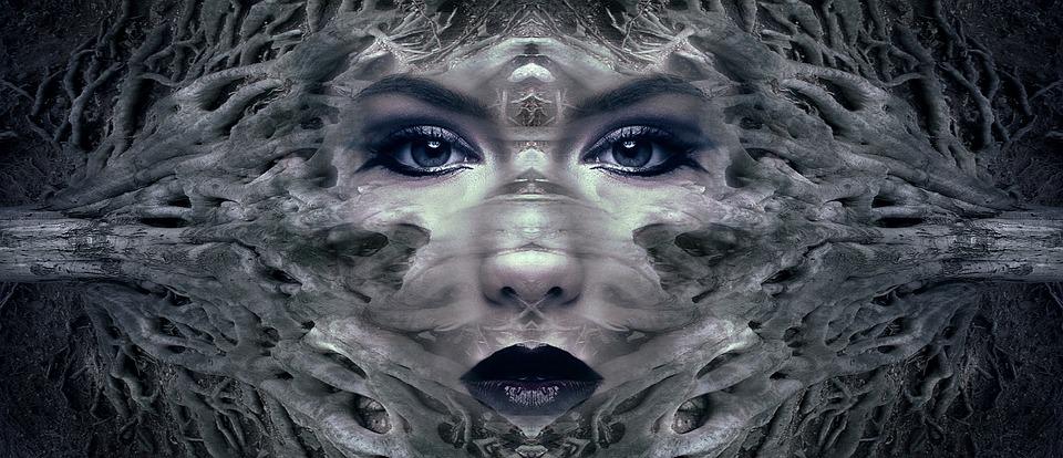 Fantasy, Portrait, Mystical, Female, Forest, Gnarled
