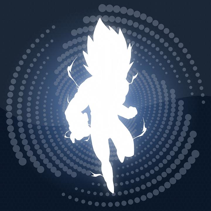 Character, Silhouette, Energy, Fantasy, Anime, Cartoon