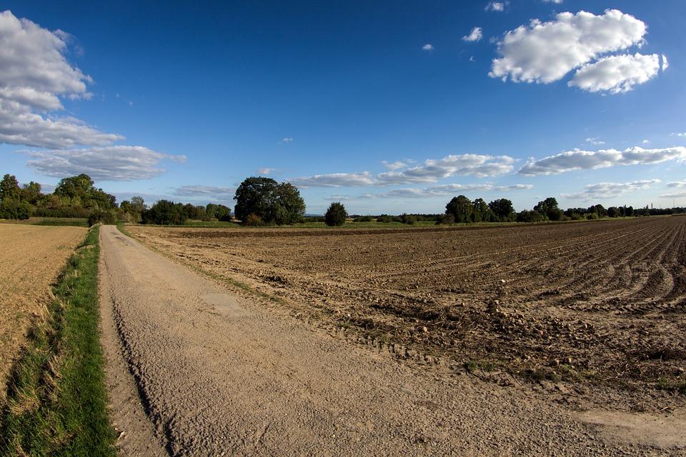 Clouds, Panorama, Arable, Lane, Field, Farm, Landscape