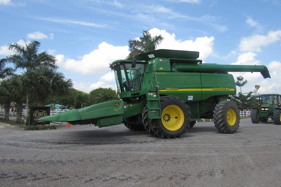 Combine, Agriculture, Farm, Crop, Harvest, John Deere