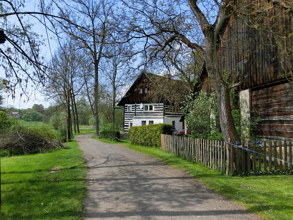 Vacation, Away, Home, Lane, Farm, Czech Republic
