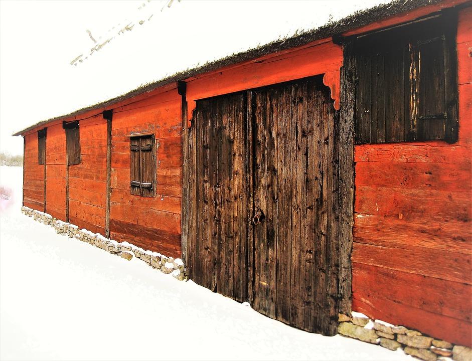 Free Photo Farm Falurdfrg Barn Barn Door Falun Red Max Pixel