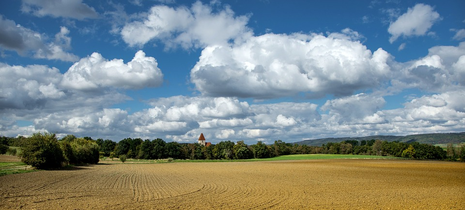 Farm, Land, Clouds, Field, Farmland, Agriculture, Rural