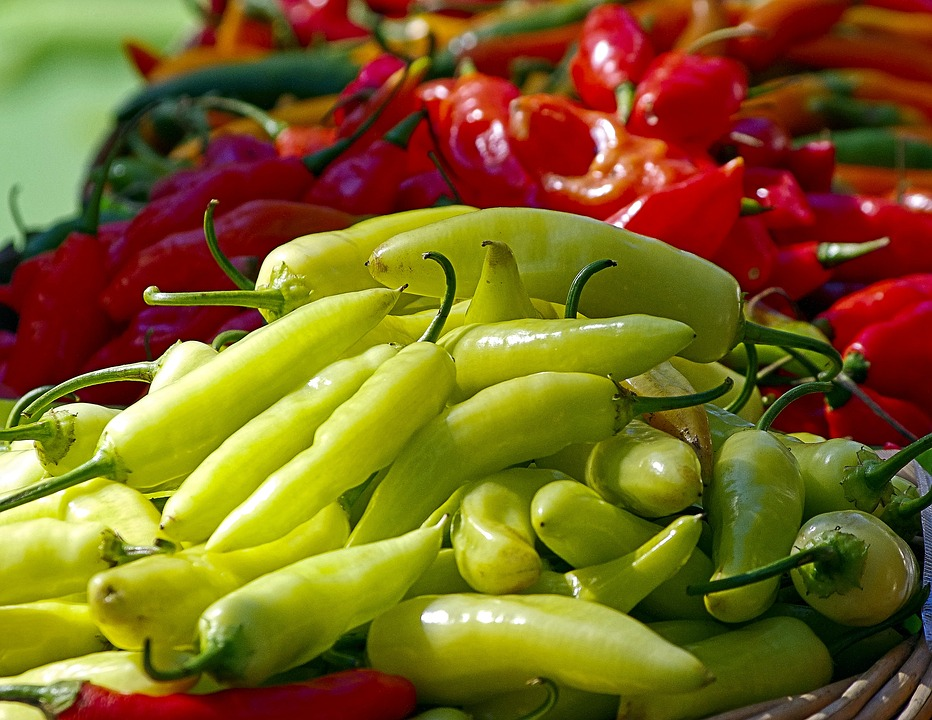 Farm Fresh Peppers, Spicy, Peppers, Spices, Food, Chili