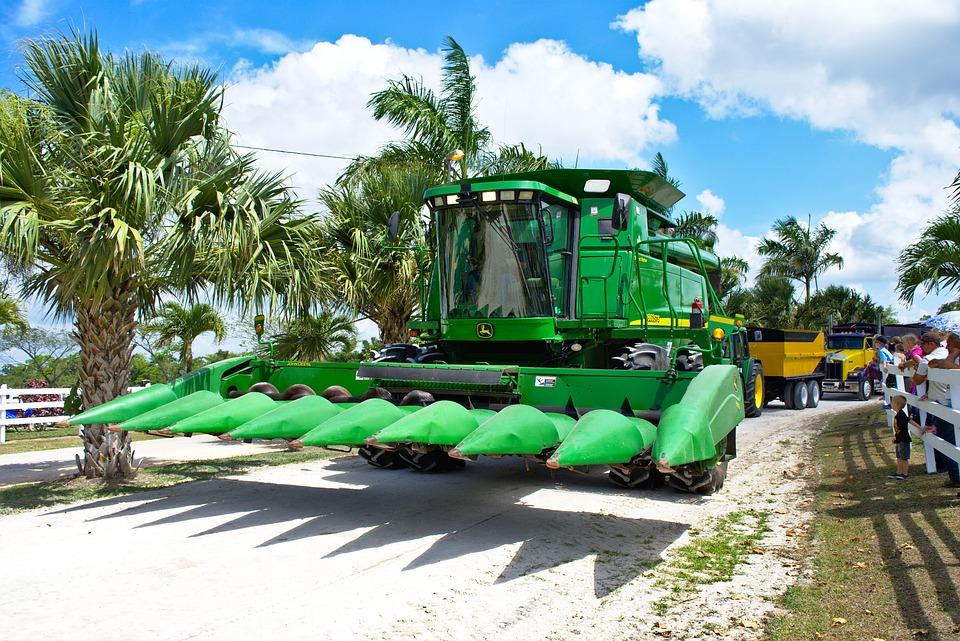 Combine, Header, Thresher, Harvester, Farm, Industry