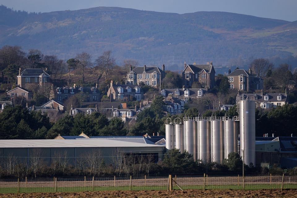Farm, Silo, Agriculture, Works, Industry, Farming