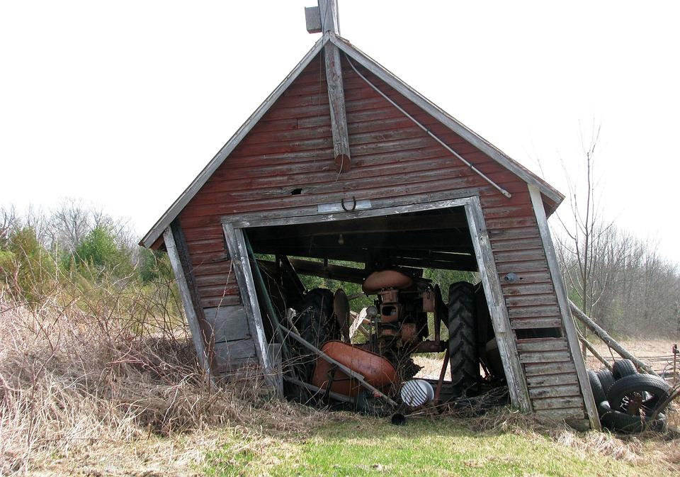 Garage, Farm, Tractor, Moneymore, Ontario, Canada