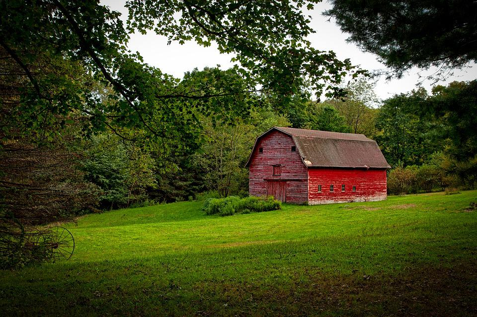 Red Barn, Farm, Rustic, Countryside, Agriculture, Rural