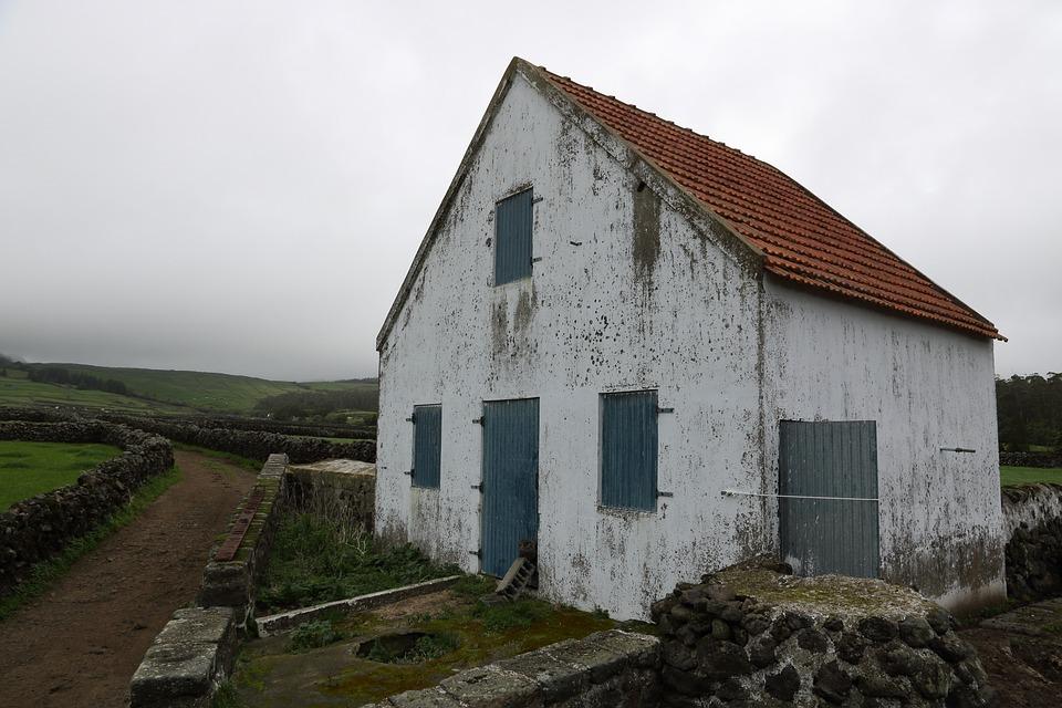 Portugal, Azores, Terceira, Island, Rural, House, Farm