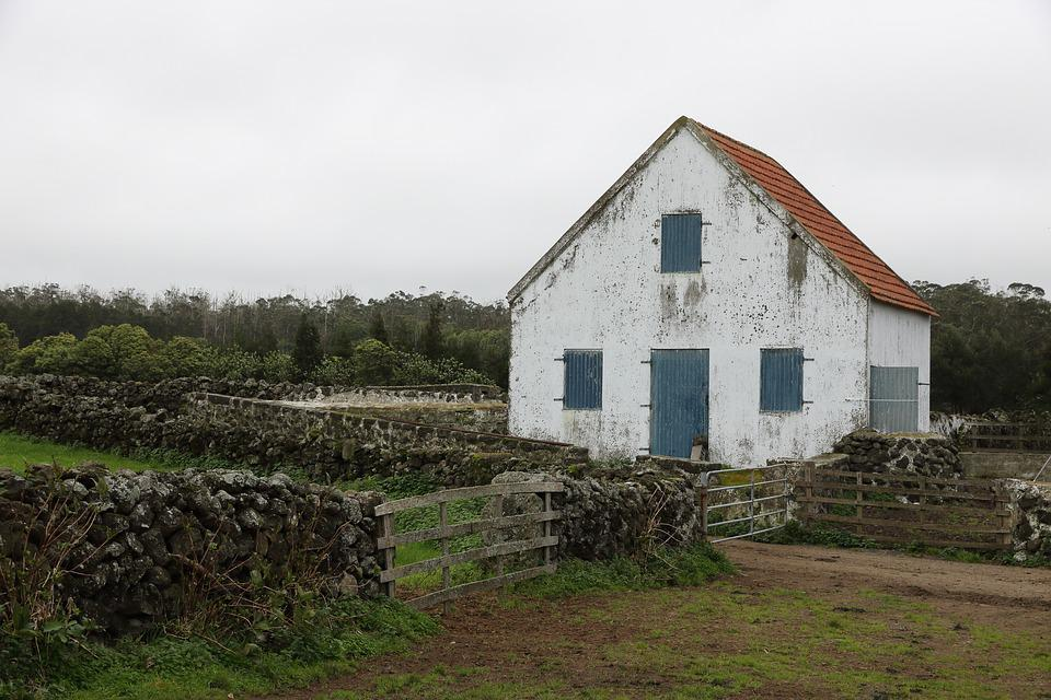 Portugal, Azores, Terceira, Island, Rural, House, Farm