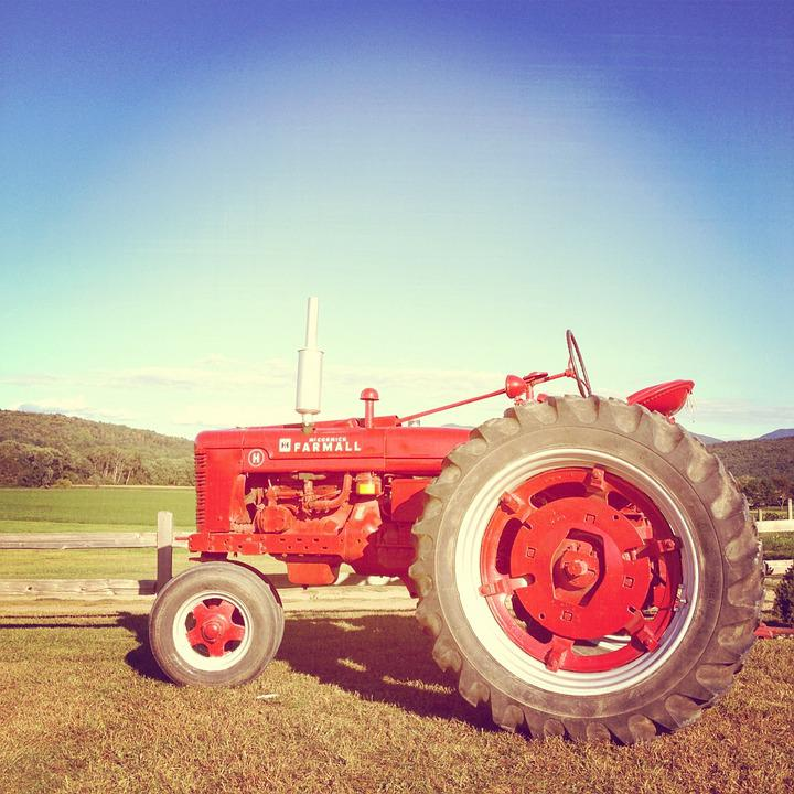 Tractor, Farm, Vehicle, Antique