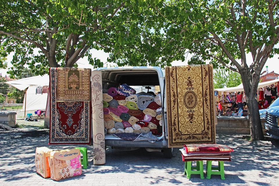 The Flying Carpet Trade, Farmers Local Market, Turkey