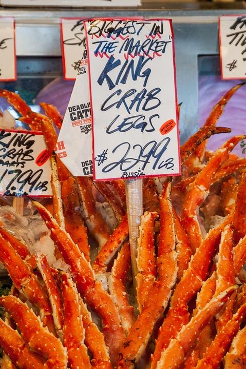 Crab Legs, King Crab, Fish Market, Farmers Market, King