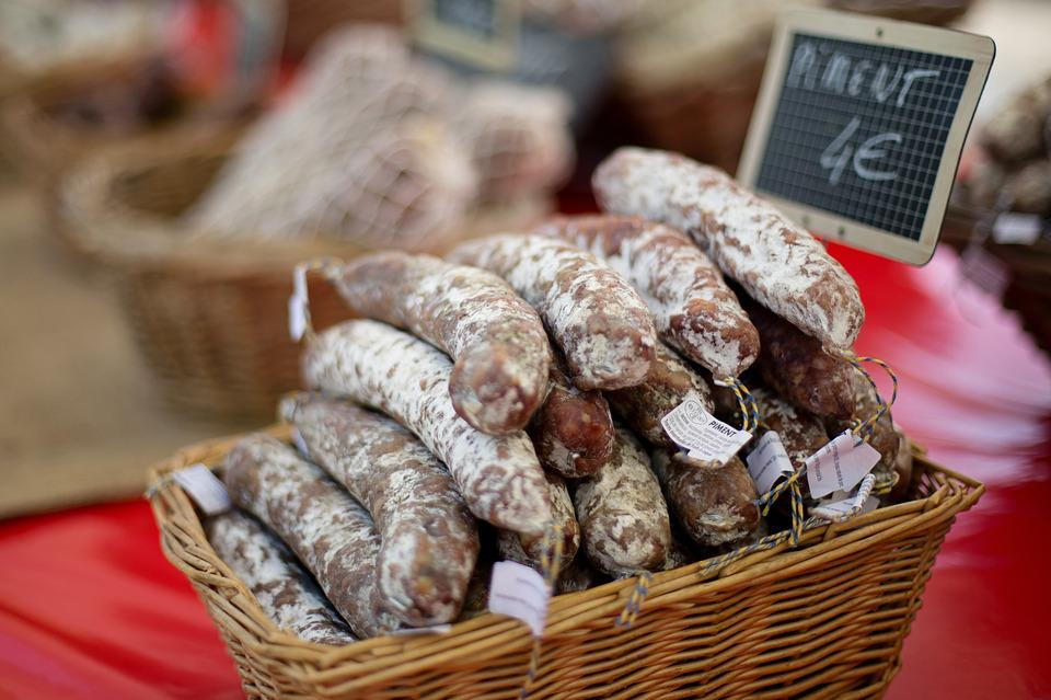 Sausages, Meat, Farmer's Market, France