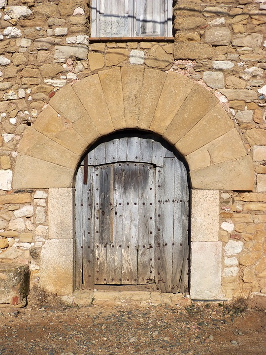 Door, Portal, Segments, Medieval, Farmhouse