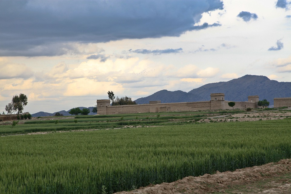 Fortress, Fort, Stronghold, Landscape, Farmland