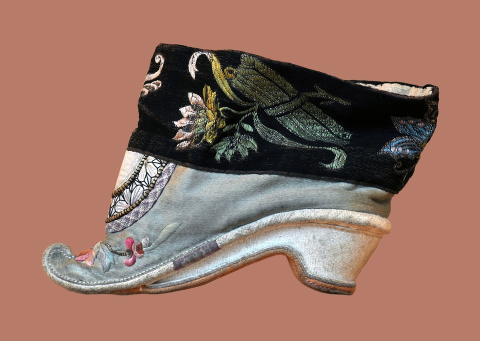 Shoes, Chinese, 18 Century, Decorated, Fashion