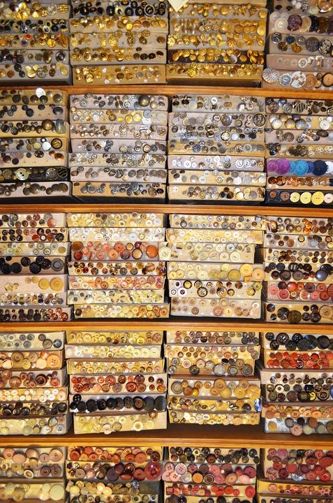 Buttons, Accessories, Knobs, Design, Set, Fashion