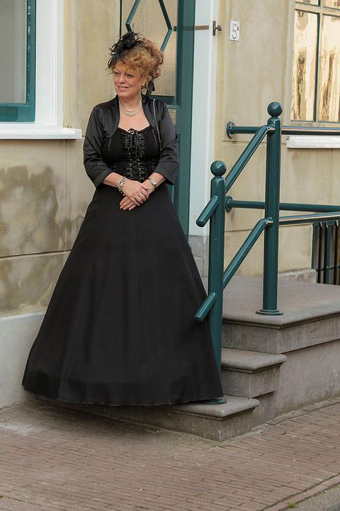 Victorian, Dress, Fashion, Antique