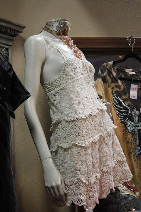 Mannequin, Dress, Fashion, Clothing, Lace