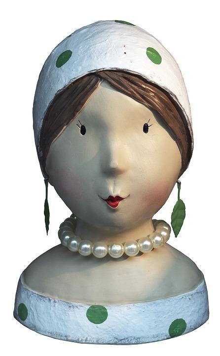Bust, Ceramic, Head, Face, Female, Fashion, Sculpture