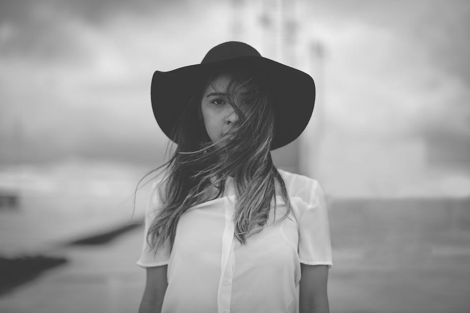 People, Girl, Woman, Alone, Hat, Fashion