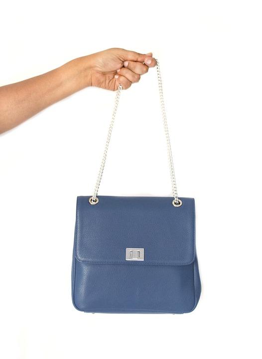 Blue, Bag, Leather, Fashion, Brand, Handbag