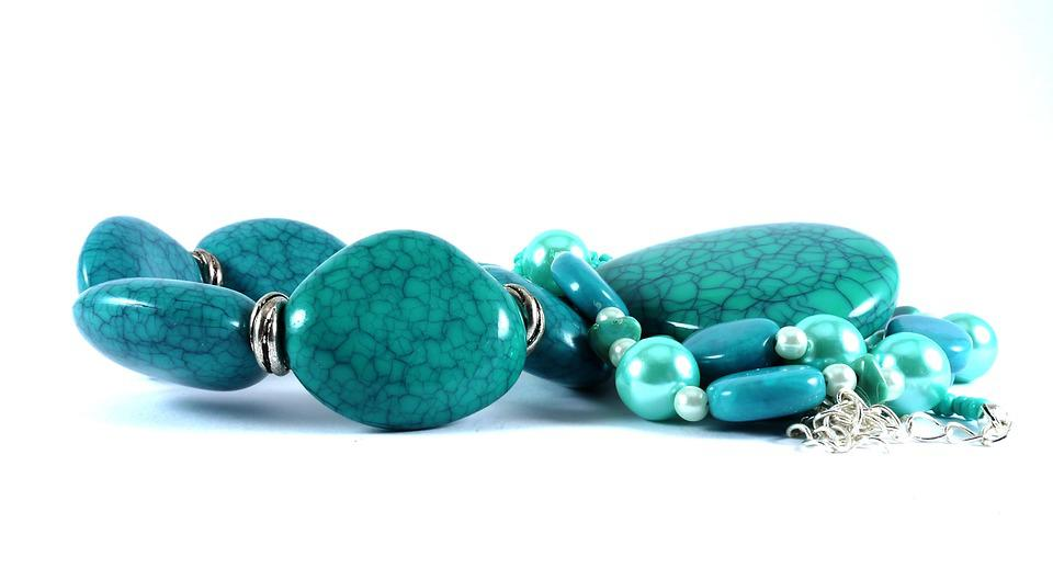 Necklace, Jewelry, Teal, Stone, Fashion, Handmade