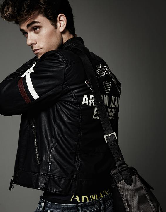 Fashion, Hair, Jacket, Leather Jacket, Man, Model