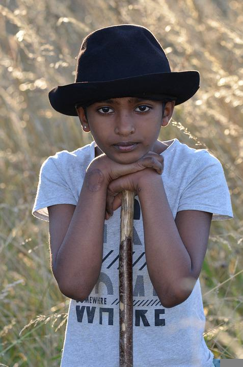 Boy, Model, Portrait, Hat, Pose, Style, Fashion, Posing