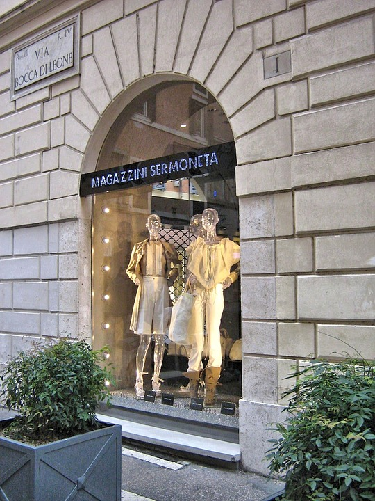 Roman Shop Window, Italy, Shopping, Fashion