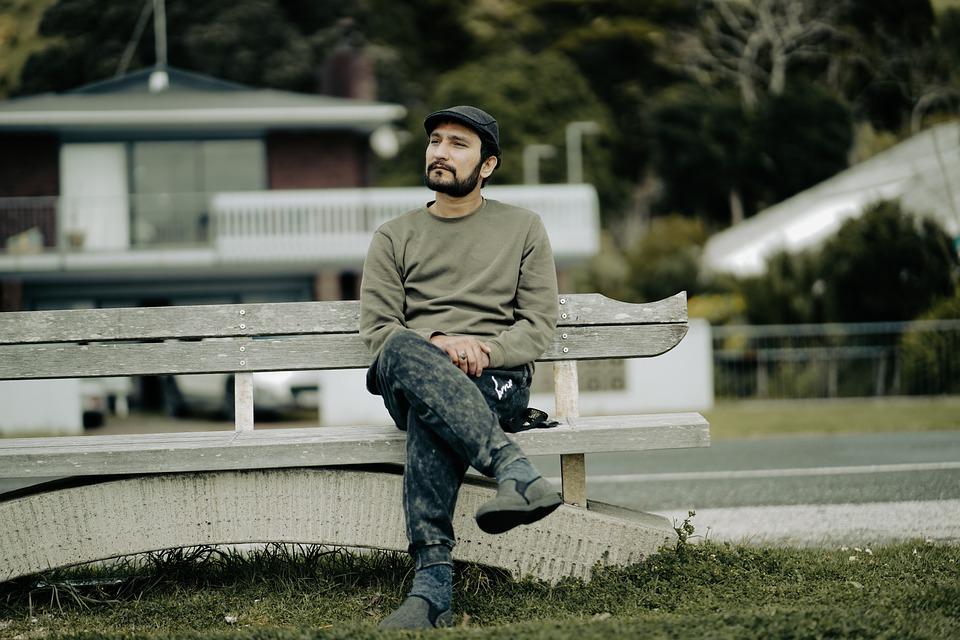 Man, Sitting, Bench, Model, Fashion, Pose, Seat