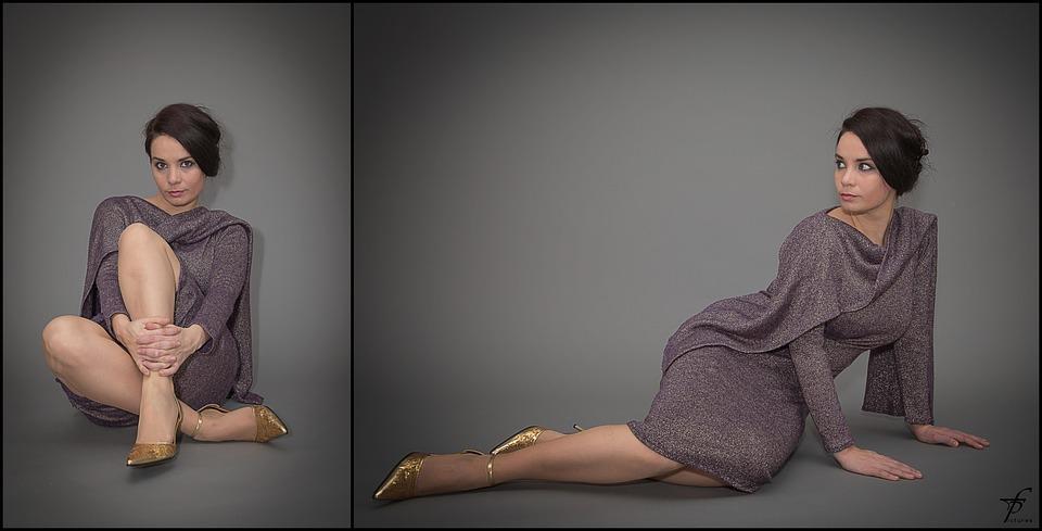 Model, Woman, Fashion, Dress, Posing, Girl, Studio