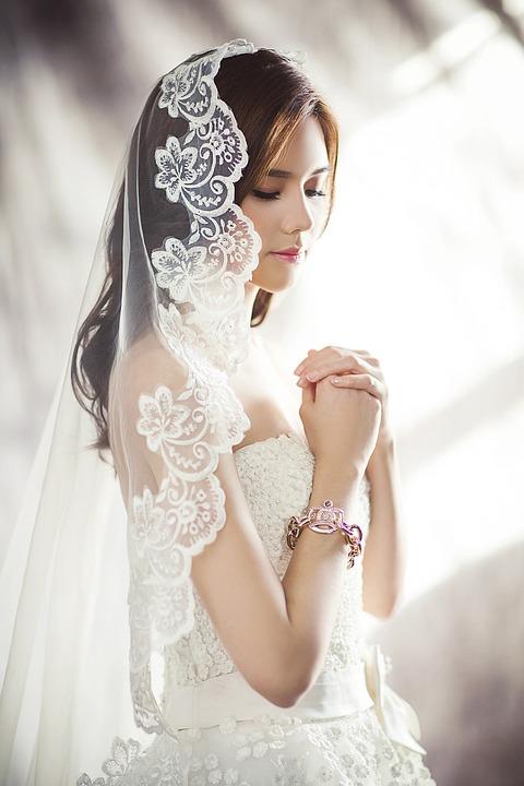 Wedding Dresses, Fashion, Bride, Veil, White Dress