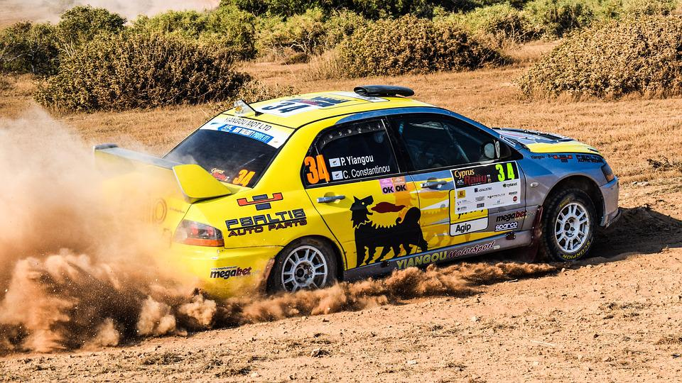 Rally, Race, Car, Speed, Fast, Action, Spinning Wheels