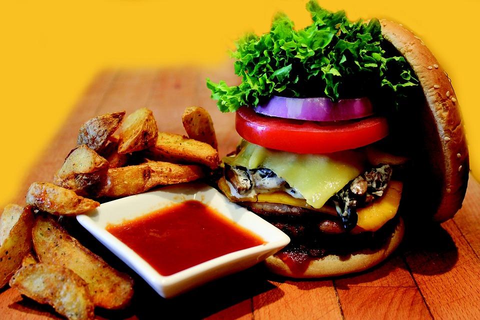 Hamburger, Burger, Meal, Fast, Meat, Beef, Sandwich