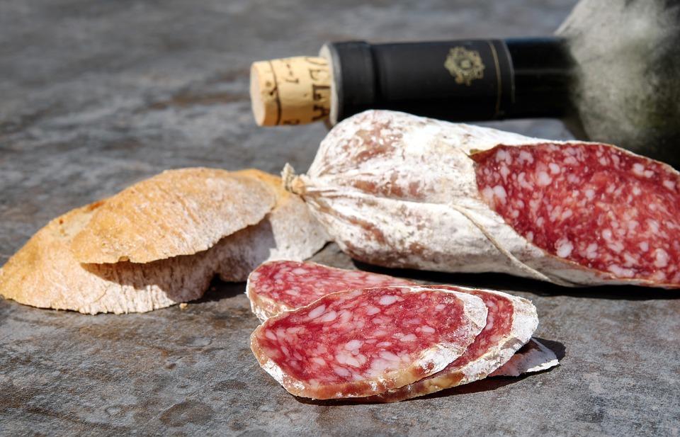 Salami, Sausage, Cut, Substantial, Fat, Mediterranean