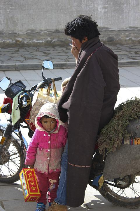 Father And Daughter, Tibetan, Character