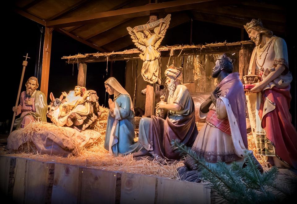 Crib, Christmas, Father Christmas, Nativity Scene