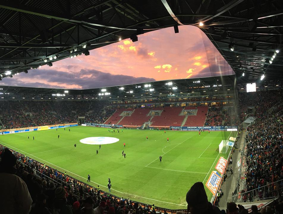 Arena, Football Match, Playing Field, Fc Augsburg