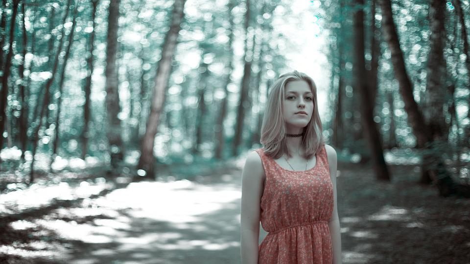 Girl In The Woods, Dress, Fear, The Jitters, Model