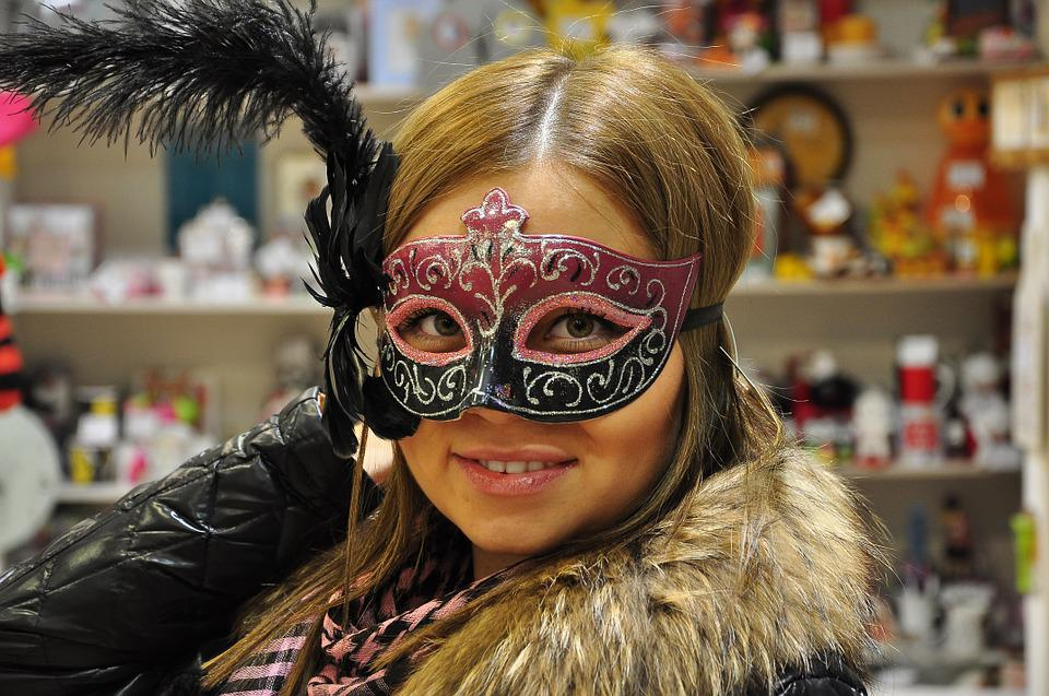 Mask, Masquerade, Girl, New Year's Eve, Feathers